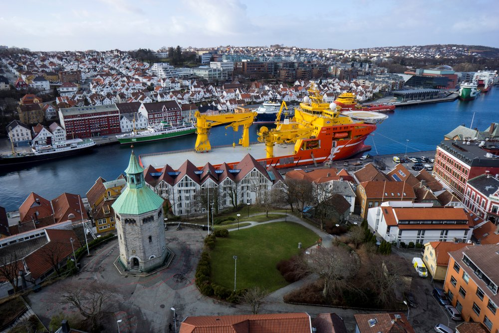 Viking Neptun in Stavanger, Norway. February 2015.  Photo: Aeroview