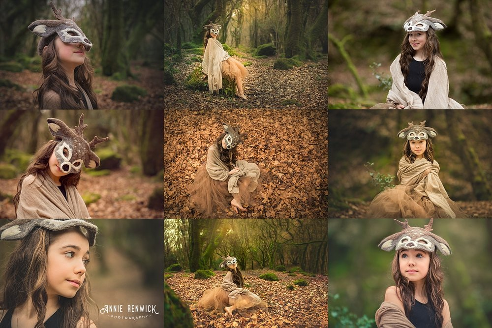 deer woodland photoshoot dartmoor