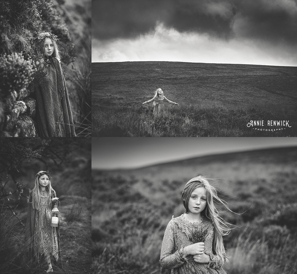 moody black and white dartmoor portraits
