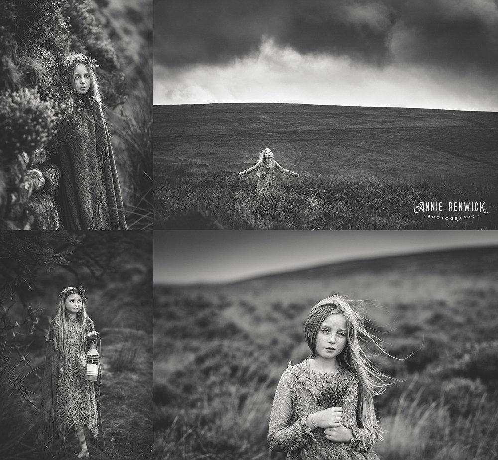 moody black and white dartmoor portraits