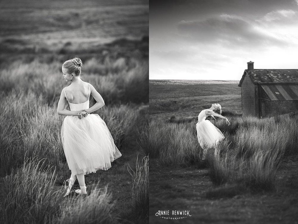 B&W ballet portrait devon dancer