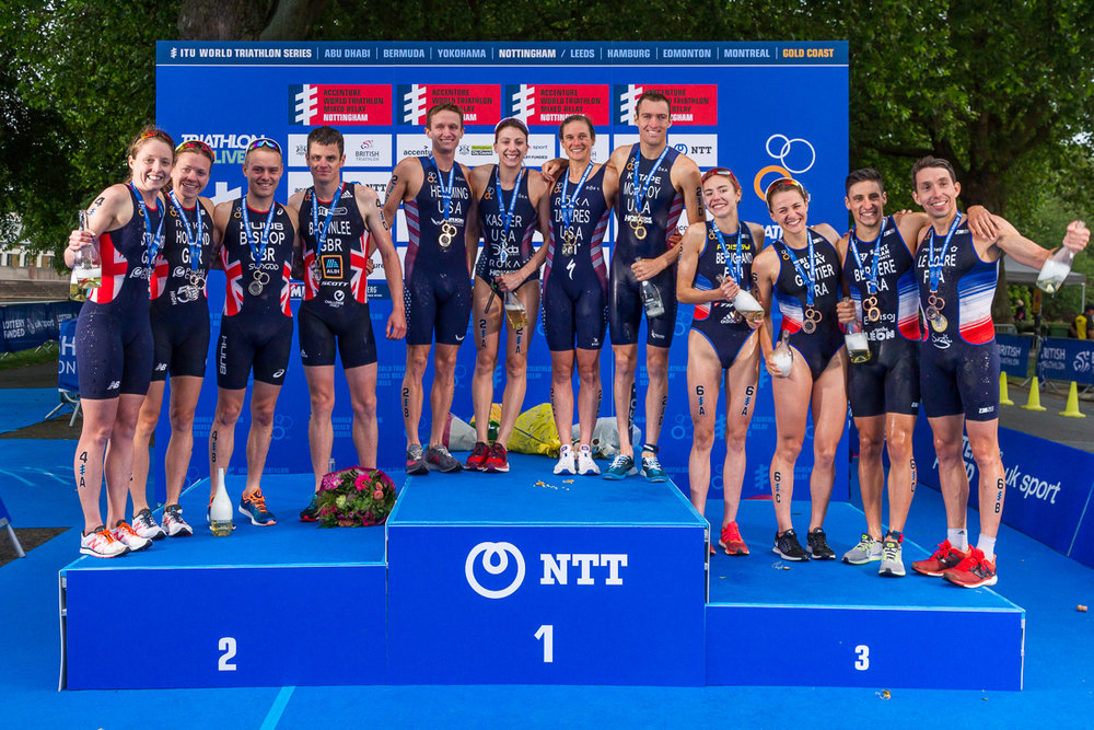 World Triathlon Nottingham - Some of the biggest names in the triathlon world descended on Nottingham to race the Olympic qualifying Mixed Relay