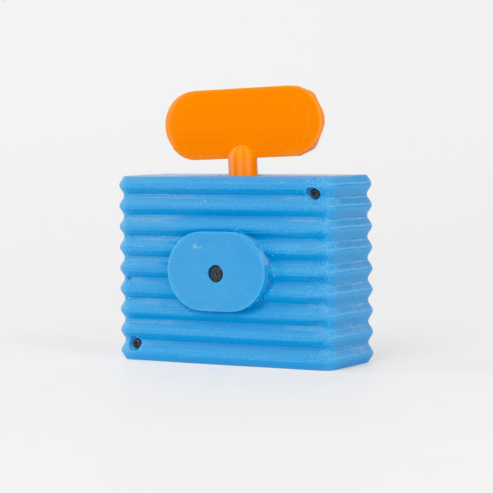 Wavy Threaded Case Camera    This housing has a distinct wrap around texture and a threaded socket allowing for an accessory to be attached.  more