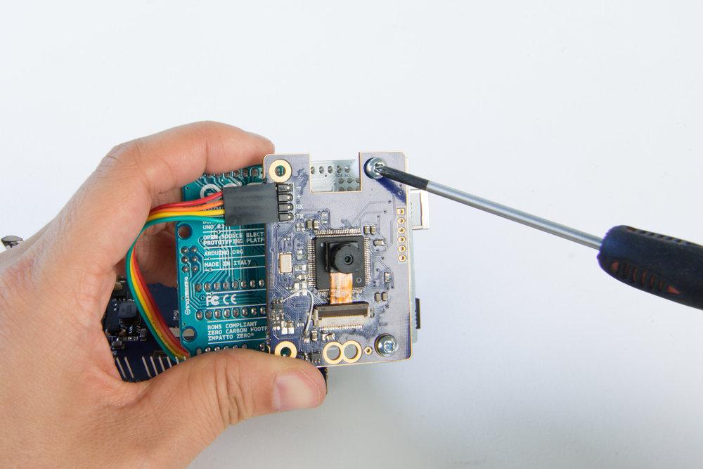 Step 9  Attach the camera module to the Arduino Uno