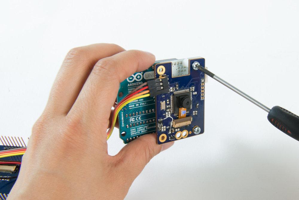 Step 10  Attach the camera module to the Arduino Uno