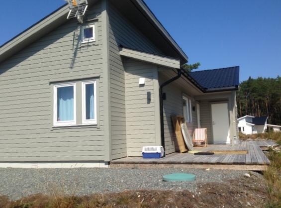 Eksempel på prosjekt med gråvannsrensing og tett tank for svartvann.