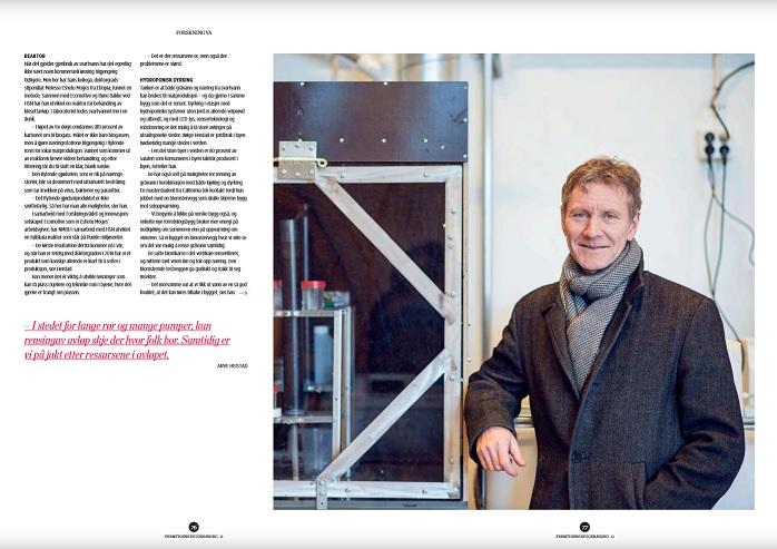 Faksimile fra magasinet Fremtidens Byggenæring