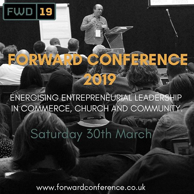 Join us on Saturday 30th March for Forward 2019; the third annual gathering of Christian leaders working in Commerce, Church and Community. •  Registration is now open through the link in our bio! •  Our early bird price will be available until 31st January 2019, so register now for the best available price. #fwd19