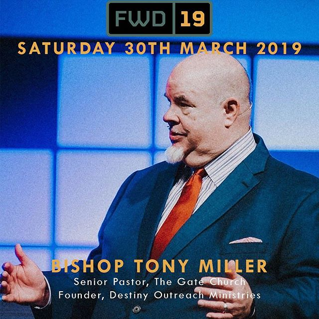 On Saturday 30th March, we have the incredible Bishop Tony Miller with us from The Gate Church, Oklahoma. If you are a Christian in business, church, or commerce then YOU need to be there! Book your tickets now through the link in our bio! #fwd19