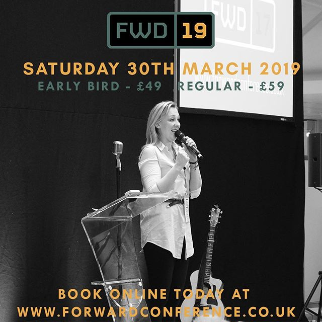 There's still time to get your EARLYBIRD tickets for our exciting Forward Conference! Don't miss this day – we promise to leave you feeling inspired, supported and give you lots of great networking opportunities. If you are a Christian in business, church, or commerce then YOU need to be there!  Book on today through the link in our bio!  #fwd19