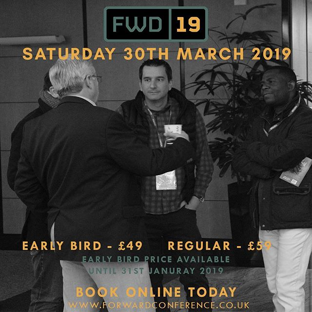 There's still time to get your EARLYBIRD tickets for our exciting Forward Conference! Don't miss this day – we promise to leave you feeling inspired, supported and give you lots of great networking opportunities. If you are a Christian in business, church, or commerce then YOU need to be there! Book your tickets here: https://www.forwardconference.co.uk