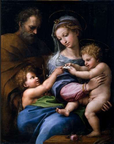Raphael Holy Family with St John c1517