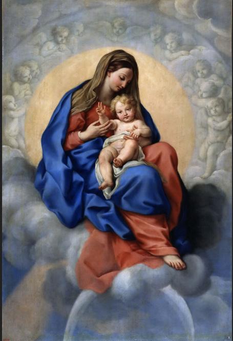 Carlo Maratti 'The Virgin and Child in Glory' c1680
