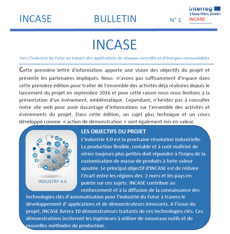Bulletin No 1 - Francais - print version