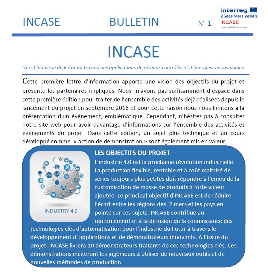 Bulletin No 1 - Francais - print version