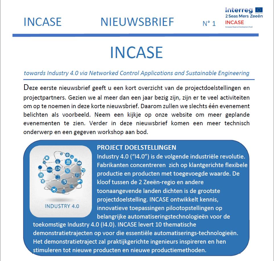Nieuwsbrief Nr 1 - Nederlands - print version