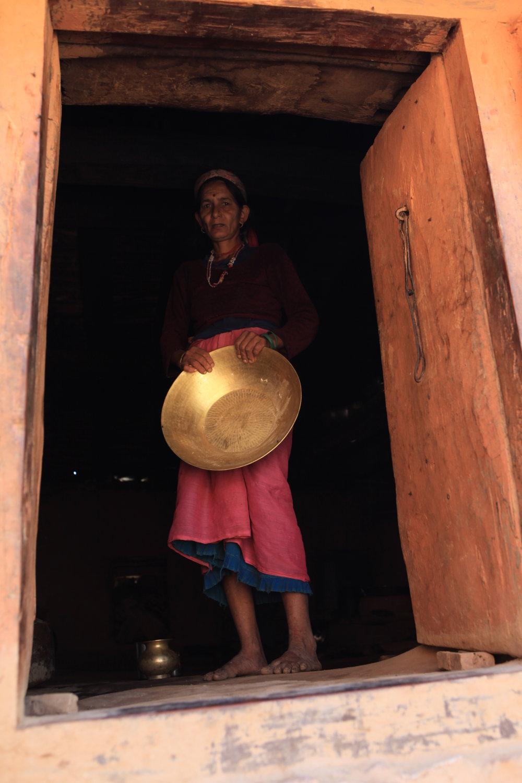 Woman in Nepali village.