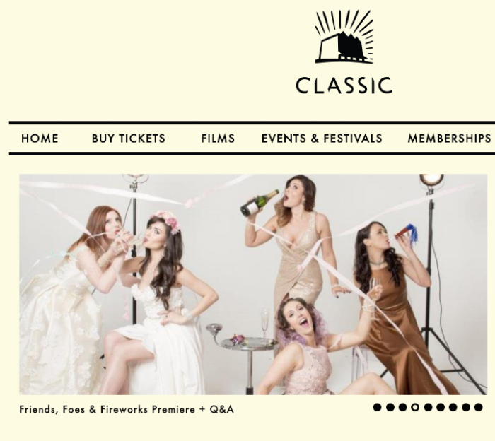 Friends, Foes & Fireworks on the Classic Cinema website Home Page