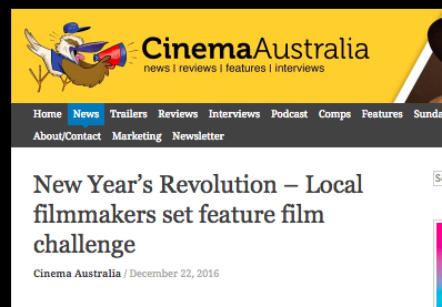 Cinema Australia - News Article, December 2016
