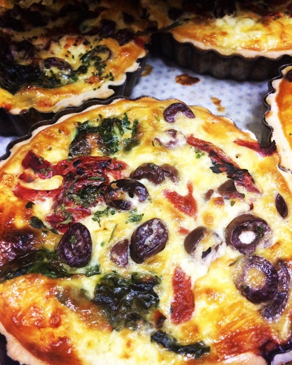 Mediterranean Tarts & Quiches    Retail -Large family sized tarts & Quiche twin packs  Cafe/Deli -Individual Quiches