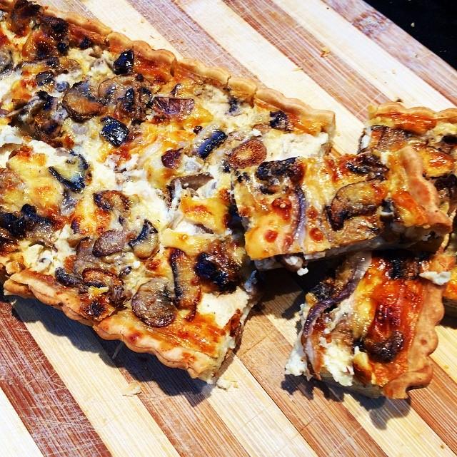 Wild Mushroom & Pecorino Tarts & Quiches     Retail- Large family sized tarts  Cafe/Deli- Individual Quiches