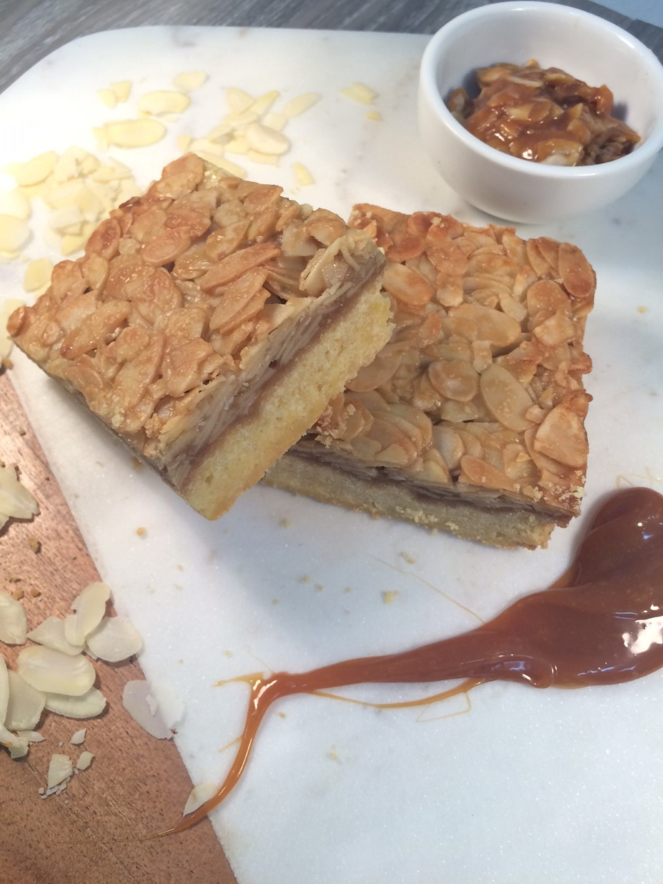 Toffee Almond Slice  Retail- Twin Pack  Cafe/Deli- Wholesale size 12pcs