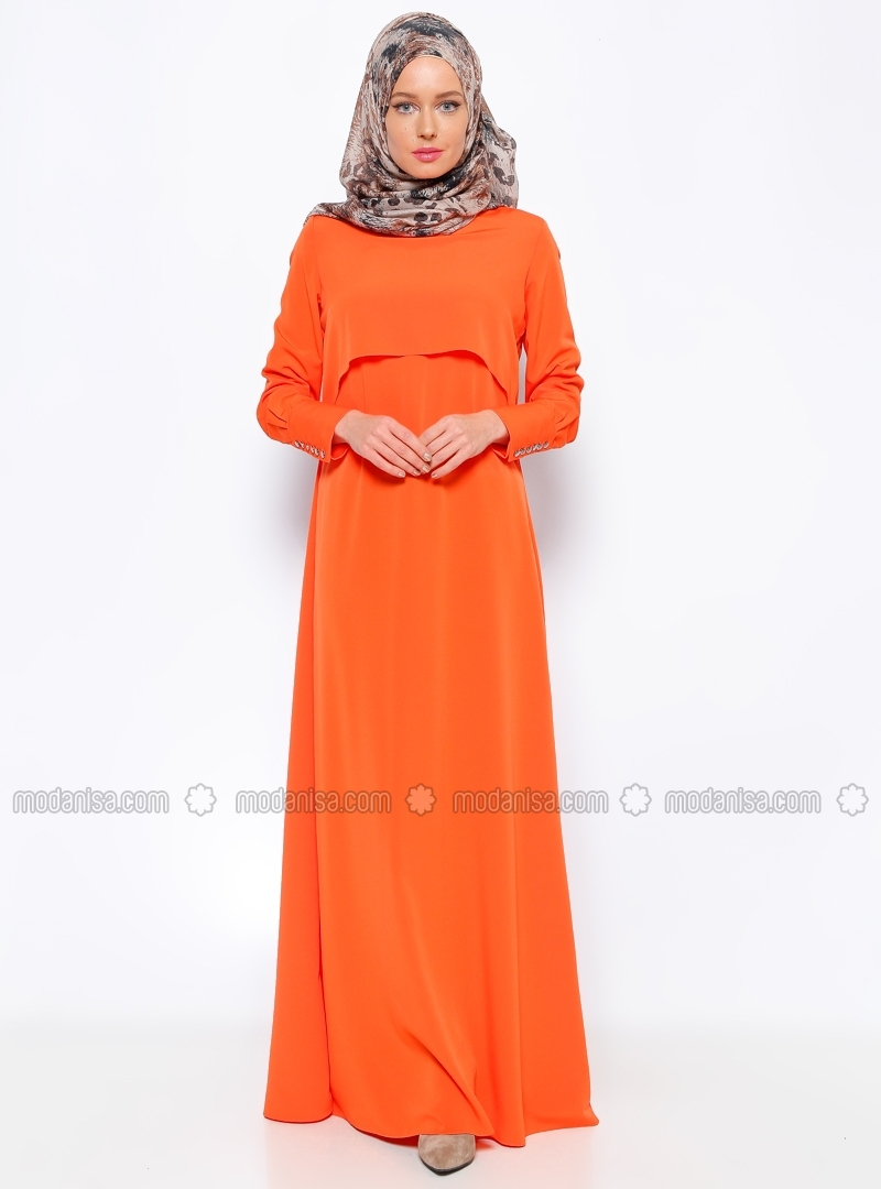 Orange Dress by Missmira