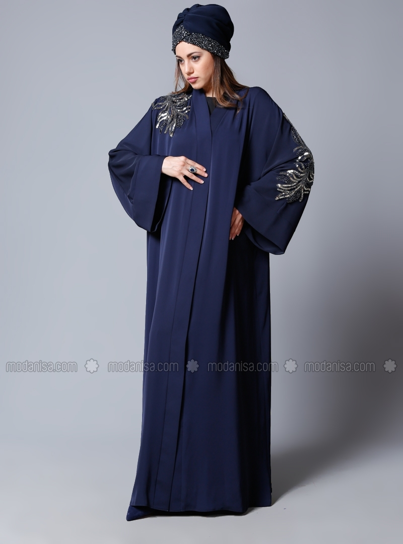 Navy Blue Radiance Abaya by Sheikha
