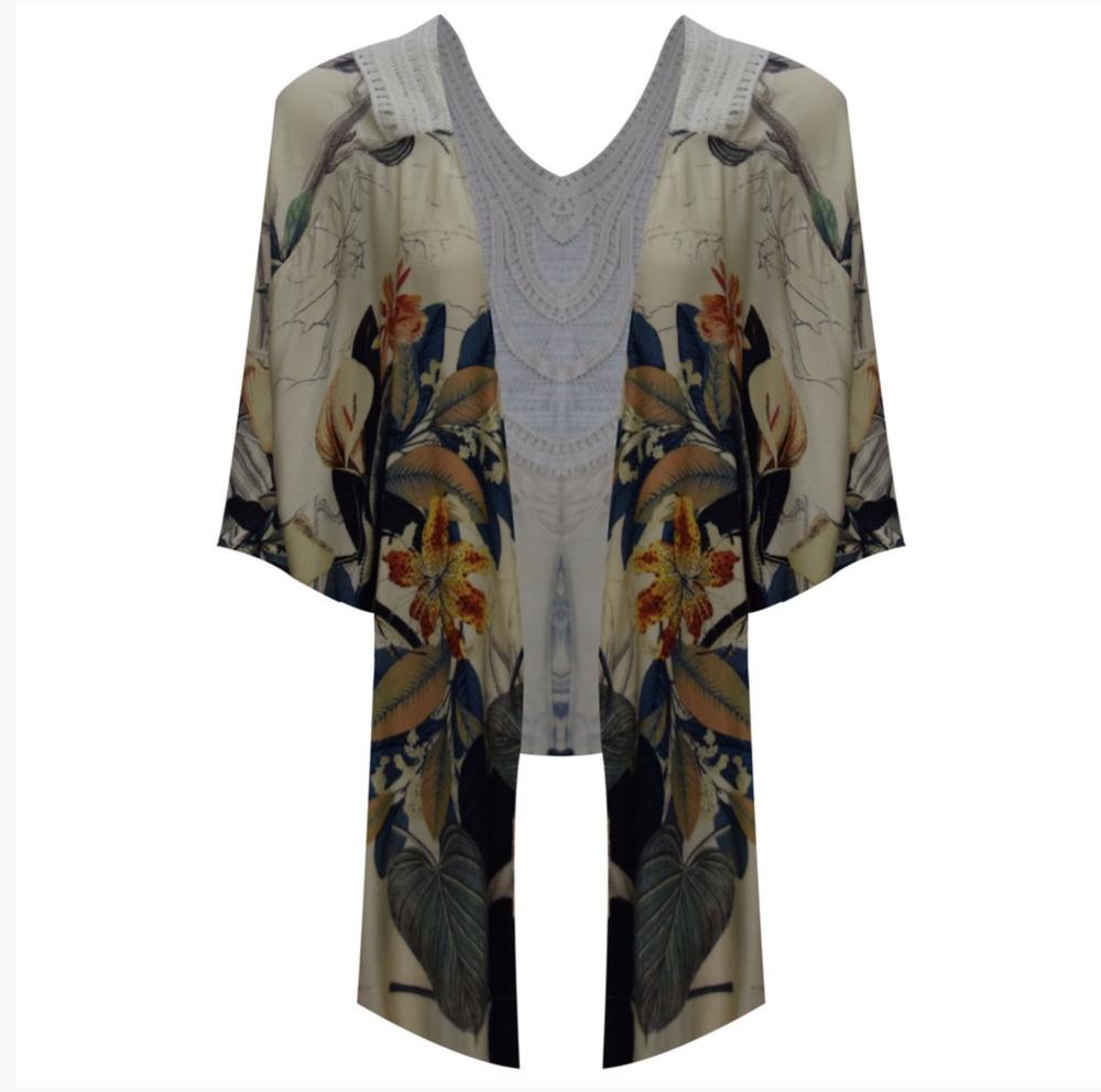 Butterfly Crochet Knit Kimono