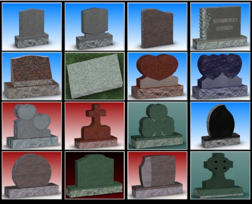 Select from these stone shapes in Cochran's Web Builder