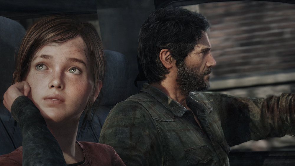 Ellie and Joel, in The Last of Us