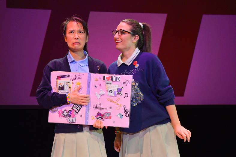 Christina Liang (left) in Love and Information at A.C.T.'s Strand Theater (photo by Kevin Berne).
