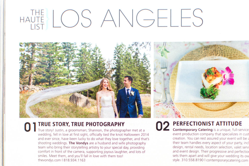 thevondys.com | California Wedding Day Magazine | Los Angeles Wedding Photographer | The Vondys
