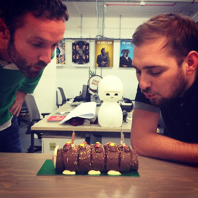 Happy birthday Luke & Rob. Now it's time to murder that chocolate cake.