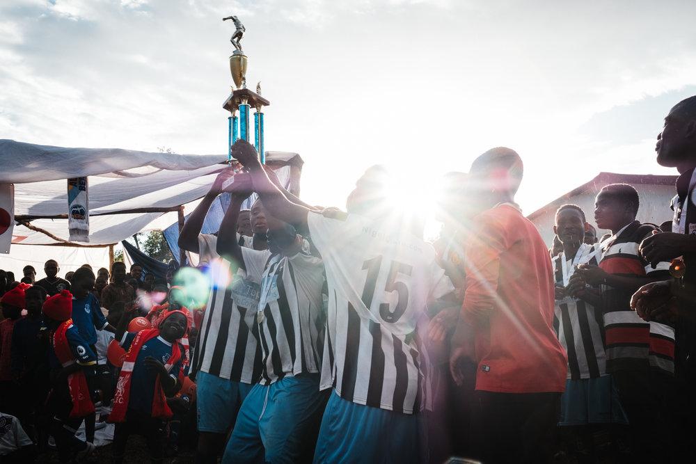 The winners of the 2018 FOMO Trophy, Kumwamba Centre who beat Namijingo Centre in the final