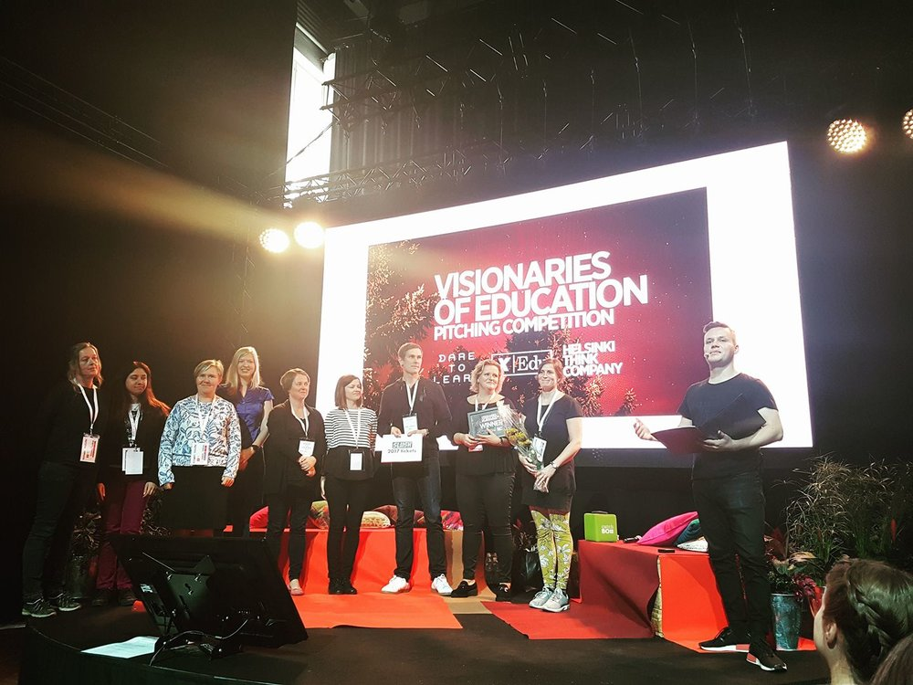 TACT team — the winners of the Visionaries of Education pitching competition