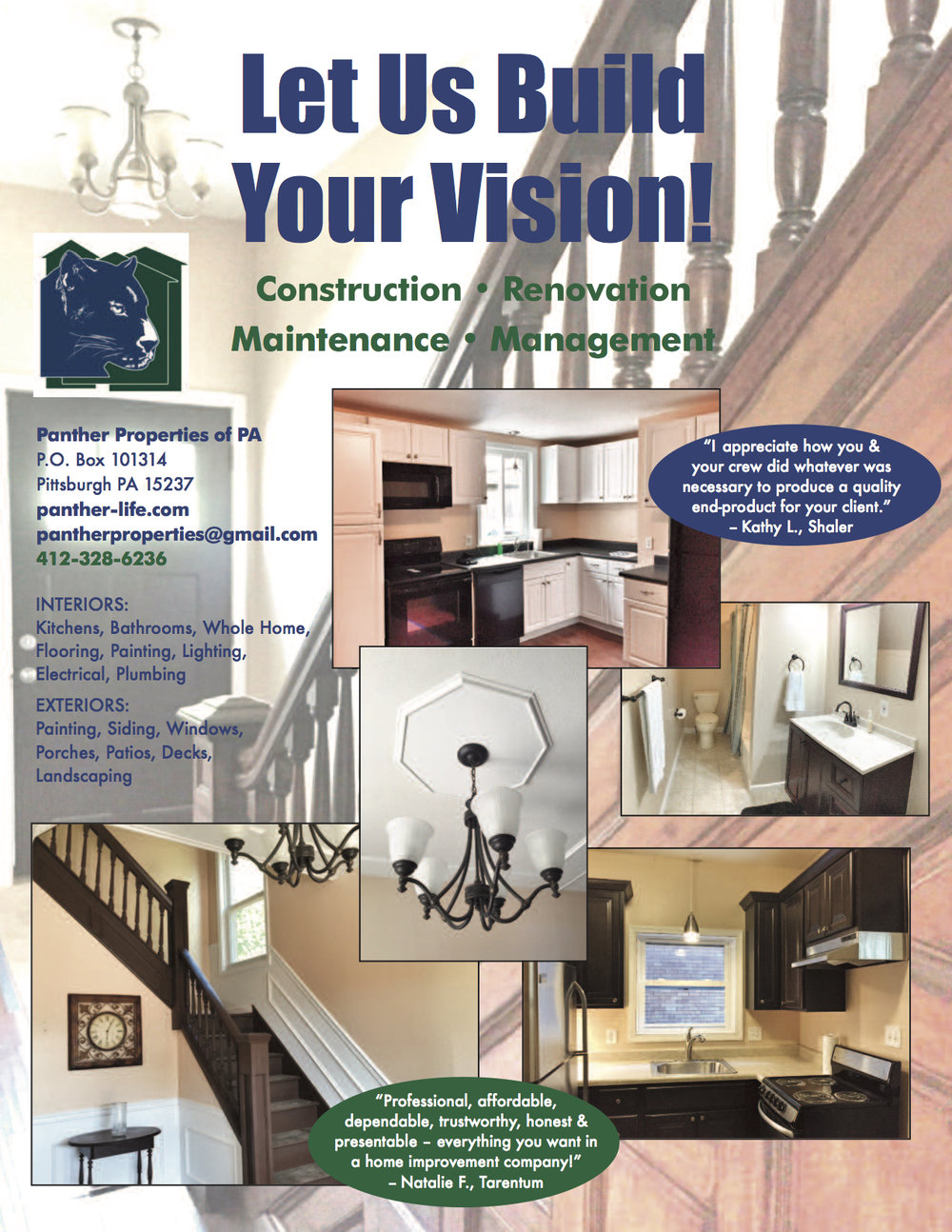 Panther Properties of PA Brochure