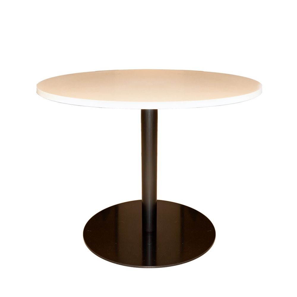 Shagreen and Bronze Pedestal Table    more info