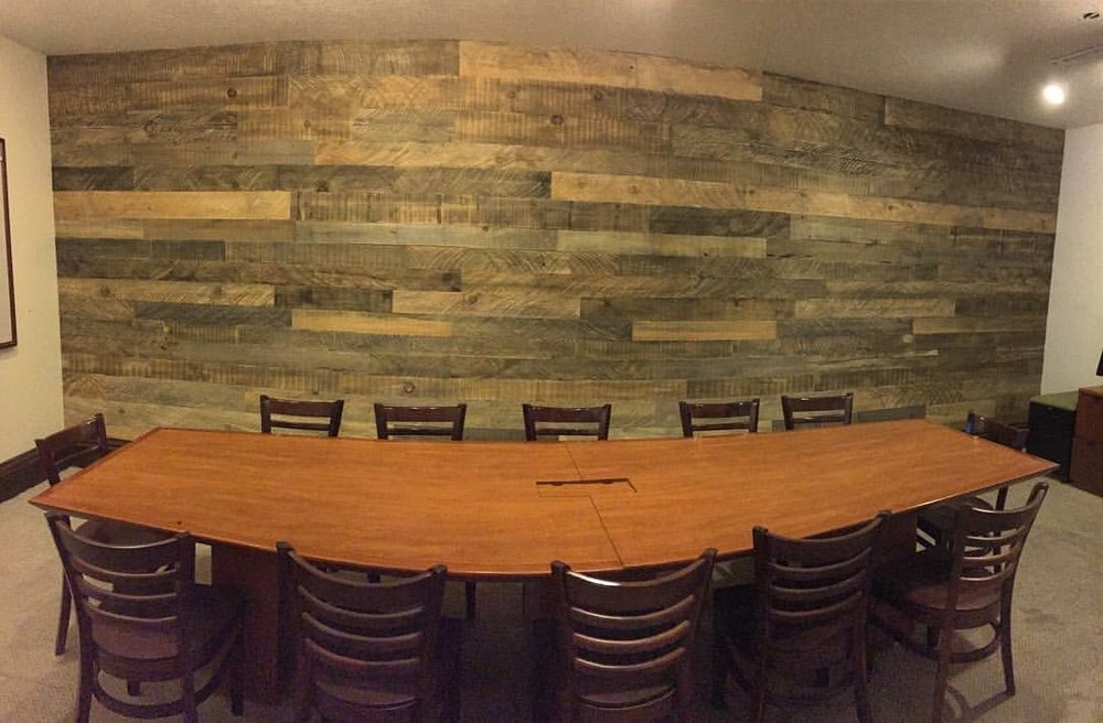 8X24 foot wall for a conference room.