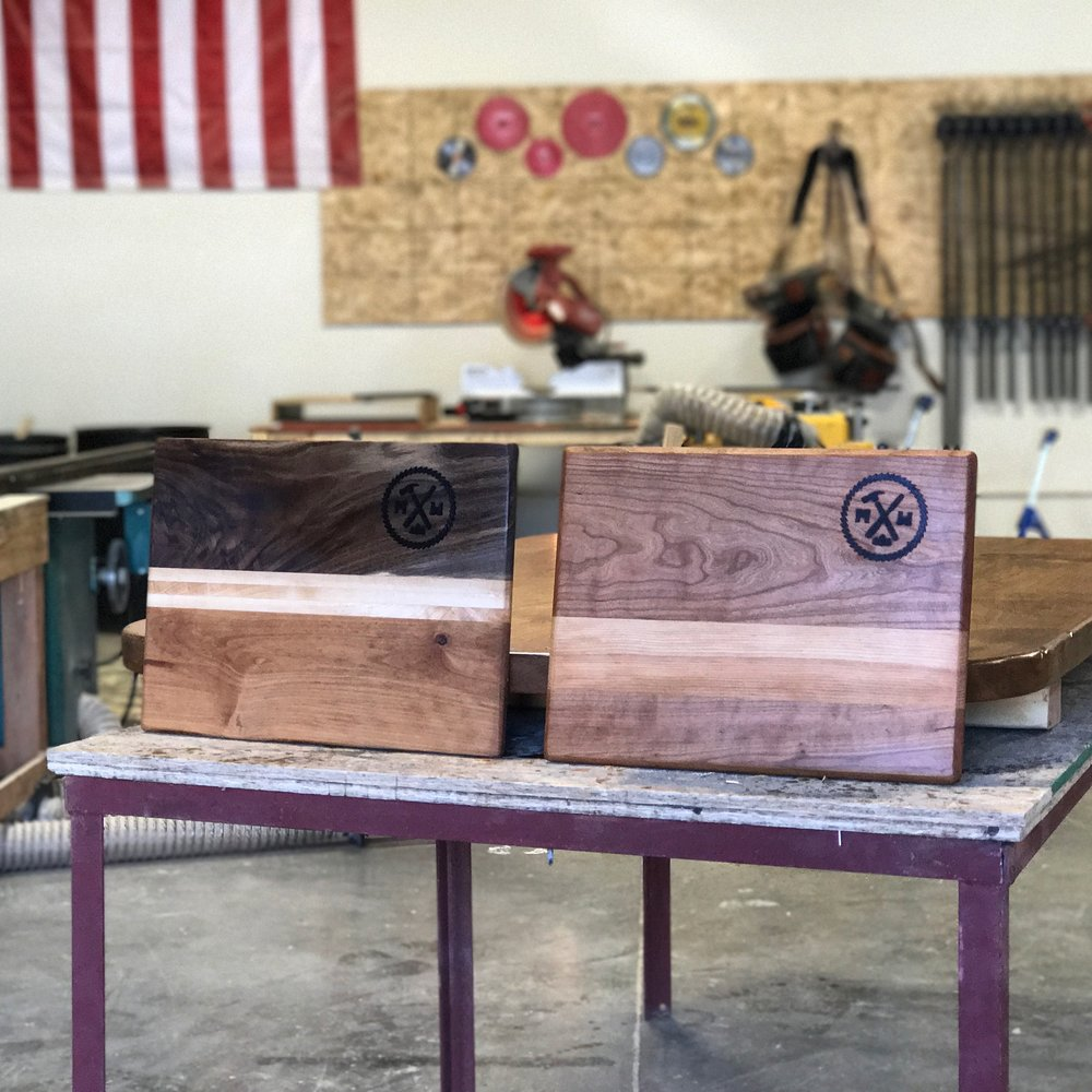 Walnut maple and cherry boards
