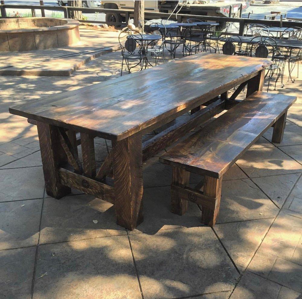 12ft patio set for Cibo Famiglia in Twain Harte, CA