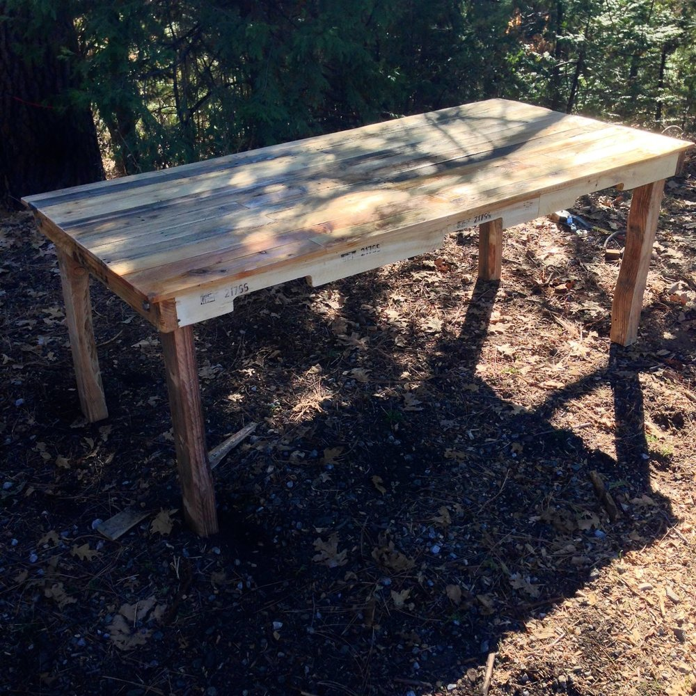 first dining table - My first table order came in and I charged a wopping $300 for it. I was so excited to get my first dining table order, until I realized I had to learn how to build a dining table.Happy to say I abandoned this design and construction years ago.