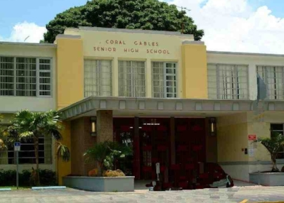 Despite its name, only 14% of students at Coral Gables Senior High come from Coral Gables