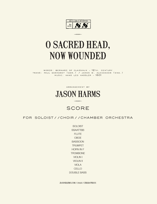 O Sacred Head, Now Wounded - CHOIR-CHAMBER score COVER paper.jpg