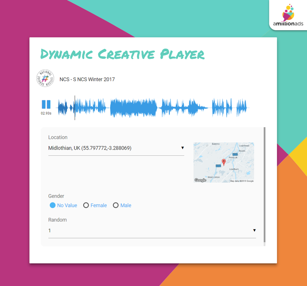 Here's an example demo player