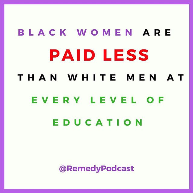 RECLAIM YOUR TIME 🗣 ___________________ Today marks #BlackWomensEqualPayDay. According to @voxdotcom, it takes the average Black Woman, 20 months to match what a White Man makes in 12. On average, we make 38% less than White Men and 21% less than White Women. How is this happening in 2018?! 🤨  Say it with us sis —RUN US OUR CHECK!  WE NEED MORE ZEROES 🗣 —put a 👏🏾if you agree !  _________________________________  #podsincolor #podernfamily  #dopeblackpods #blackpodcasts #podcastersofinstagram #blackgirlswhoblog #browngirlbloggers #nhdaily #melaninpoppin