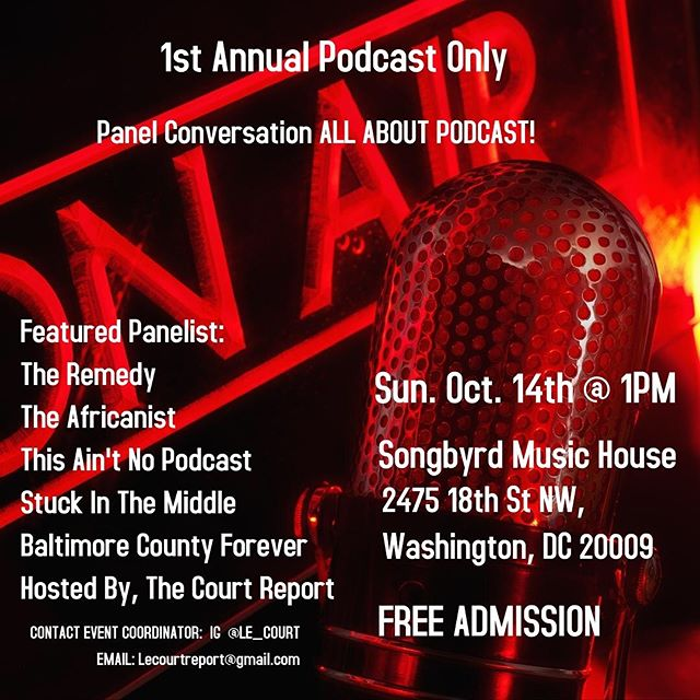 Are you Podcaster? Thinking about podcasting? Or are you just interested in good conversation? Join us and other hot podcasters in the area for the First Annual Podcast Only Event! We'll be participating in a panel conversation, all about podcasting! Come grab a drink and wrap at taste! When: Oct 14 @ 1pm