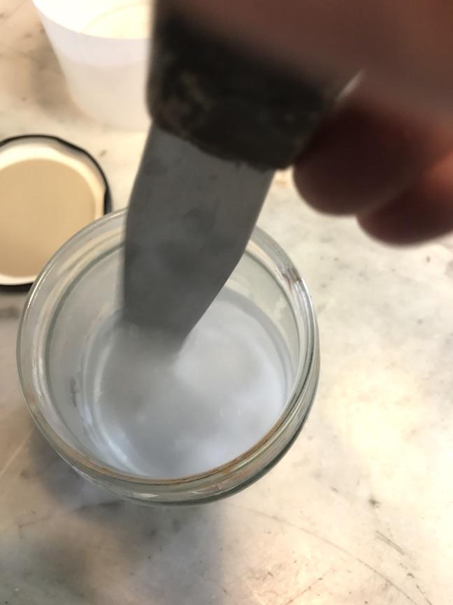 Dissolving Borax Powder in hot tap water