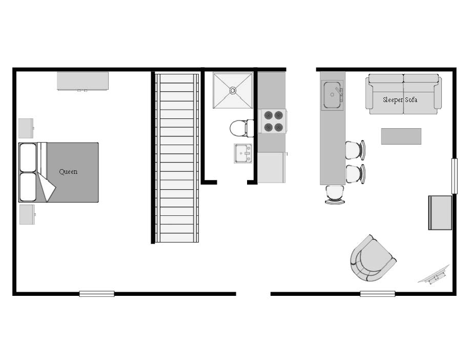 floor plan downstairs