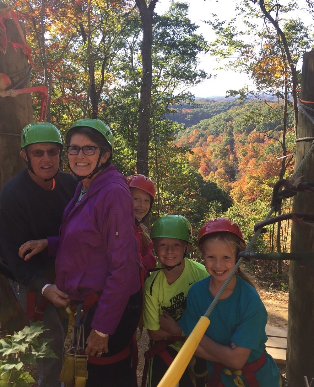 Zip lining at Off the Grid Mountain Adventures